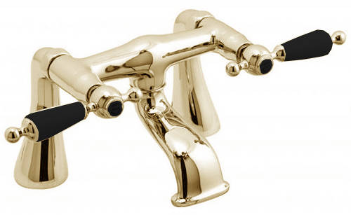 Example image of Vado Kensington Basin & Bath Filler Tap Pack (Gold & Black).