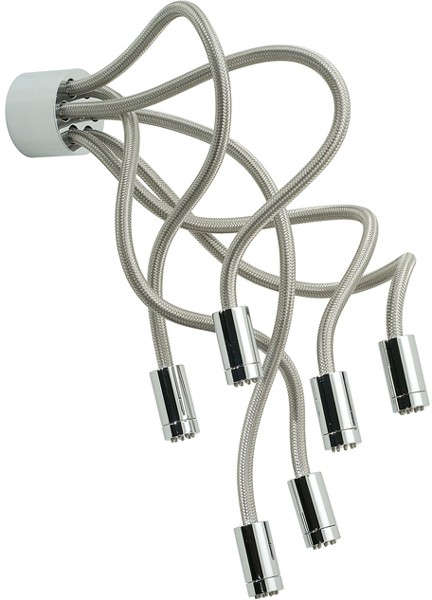 Larger image of Vado Shower Sculpture Shower Head. Adjustable, Wall Or Ceiling Mounted.