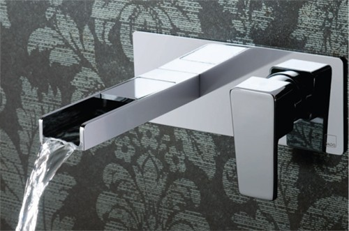 Example image of Vado Synergie Wall Mounted Waterfall Basin Tap (Progressive, Chrome).