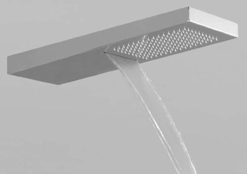 Example image of Vado Ingot Shower Head With Rain Shower & Waterfall Outlets (Chrome).