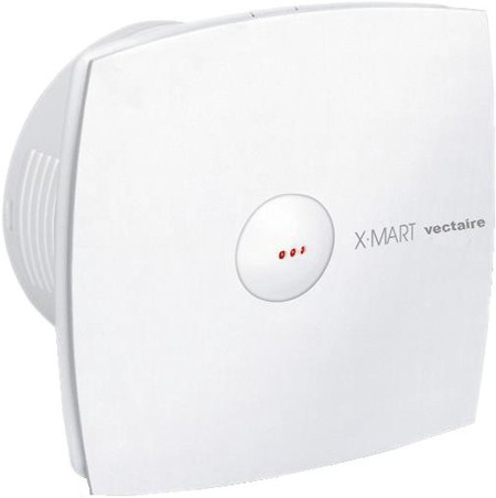 Larger image of Vectaire X-Mart Auto Extractor Fan,  Humidistat & Timer. 120mm (White).