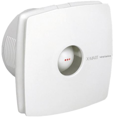 Larger image of Vectaire X-Mart Timer Extractor Fan With Humidistat. 120mm (White).