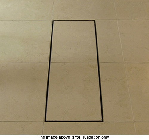 Example image of Waterworld Stainless Steel Wetroom Tile Drain With Frame. 100x100mm.
